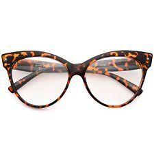 82228433d68 Cat Eye BLACK Tortoise Bottom Gradient Ombre Eyeglasses Clear Lens