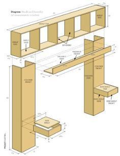 How to Build a Bookcase Headboard | Bookcase headboard, Bedrooms and  Bedroom built ins