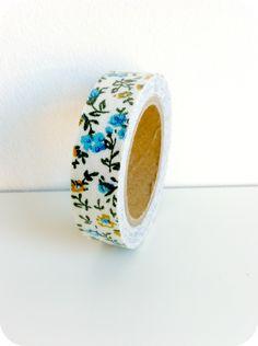 Fabric tape flores azules - Shop We Love Parties Bcn