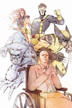 Professor X and his X-Men Michael Turner, Let It Out, Incredible Hulk, Xmen, Avengers, Sci Fi, Nerd, Geek Stuff, Comic Books