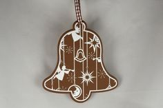Wooden Christmas Bell Decoration x 1 Piece! Xoxo  http://theribbonroom.co.uk/88031-wooden-christmas-bell-decoration.html