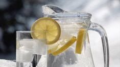 Freshly prepared lemon water rejuvenates your complexion while improving overall health