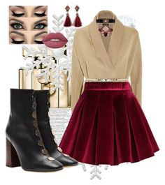"""""""Natal vinho"""" by jaslanacrystal on Polyvore featuring Gucci, ESCADA, Chicwish, E L L E R Y, Erickson Beamon and Lime Crime Lime Crime, Mini Skirts, Gucci, Shoe Bag, Polyvore, Closet, Stuff To Buy, Shopping, Shoes"""