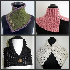 Quick and Easy Crocheted Scarflette Pattern Set by BellaCrochet