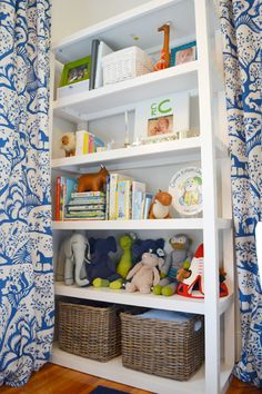 Modern Nursery Shelves...love this style of shelves for baby girls room
