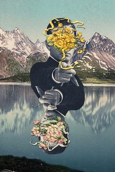Eugenia Loli The Collage Genius - Flower Reflection