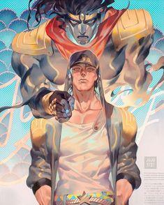 Jotaro Kujo from Jojo& Bizarre Adventures Anime - Jojo Anime, 5 Anime, Anime Guys, Jojo's Bizarre Adventure, Jojo's Adventure, Jojo Stardust Crusaders, Male Character, Jotaro Kujo, Jojo Memes