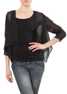 Women's Shrug Sweaters - Sheer Chiffon Shrug Bolero -- Check out the image by visiting the link. (This is an Amazon affiliate link)