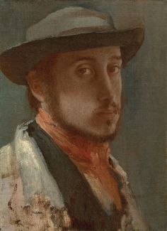 Fig. 1: Edgar Degas (1834–1917), Self-Portrait,  ca. 1857–1858. Oil on paper, mounted on canvas, 10¼ x 7½ inches. Sterling and Francine Clark  Art Institute, Williamstown, Massachusetts Photography by Michael Agee