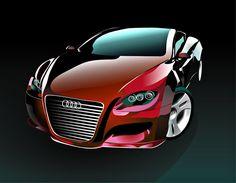 Illustrator car