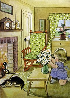 quenalbertini: 1966 children's book 'I'm Suzy', Alice Schlesinger illustration Vintage Pictures, Vintage Images, Cute Pictures, Art And Illustration, Vintage Illustrations, Vintage Children's Books, Vintage Art, Little Golden Books, Cute Art