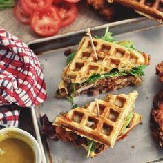 Fried Chicken Waffles Sandwiches recipe