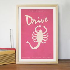 Drive Movie Poster  /  Scorpion 12 x 18 / Ryan Gosling by Geekvana, $15.00