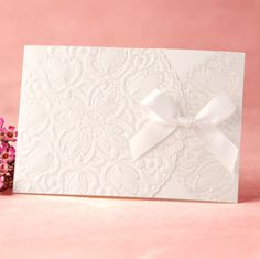 30 Personalized Wedding Invitation Silk Lace 30 Cards+30 Evps+30 Seals BH2133