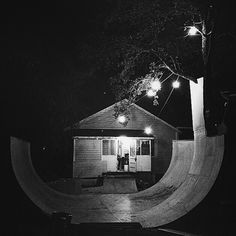 Build it and they will come... you just can't beat a 'custom backyard ramp'. I love the mental vert extension to branch tap and the well positioned lights for many a Noisy Night Session!