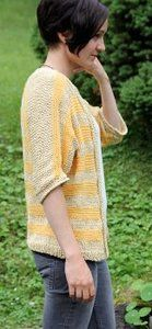 Nice summer cardigan with free pattern strikket_jakke. Cardigan Pattern, Crochet Cardigan, Knitted Cowls, Knitting Patterns Free, Knit Patterns, Free Knitting, Free Pattern, Yarn Projects, Knitting Projects