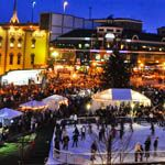 Downtown ice skating rink in Triangle Park, Lexington, KY!