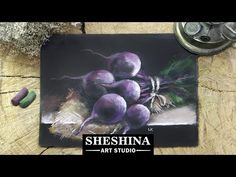 How to draw beets with soft pastels  Vegetables - YouTube