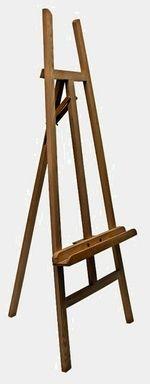 Staffelei, eventuell schwarz lackieren und zur Präsentation von Kunstwerken im Wohnzimmer nutzen