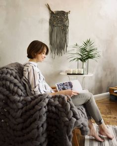 Macrame Wall Hanging on a Natural Driftwood. Sage by KNOTinterior