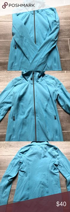 Lululemon jacket Awesome blue lululemon jacket! Thumb holes, fold down collar or zip t all the way up for more of a turtleneck look. Size 4. Barely used. Smoke free, pet free home lululemon athletica Jackets & Coats