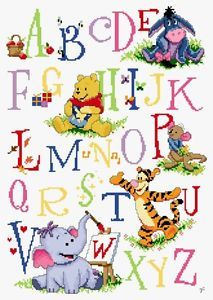 Cross Stitch Kits Winnie the Pooh's Friends Alphabet (Letters) (Disney)