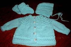 """""""5-hour baby sweater""""...really knits up fast, although I can't promise 5 hours!"""