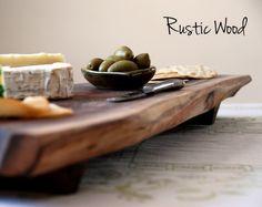 Rustic wood serving tray / cutting board
