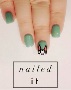 NAILED IT - BOSTON TERRIER NAILS #BostonTerrier