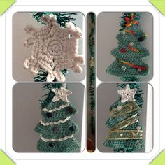 Crochet Christmass garland