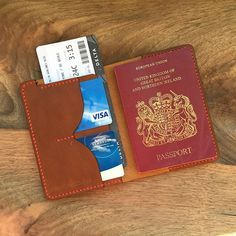 I love hearing the stories behind customization request. Share yours when you order something! Passport Wallet, Passport Cover, Passport Holders, How To Make Leather, Leather Gifts, Handmade Leather, Leather Purses, Leather Wallets, Leather Projects