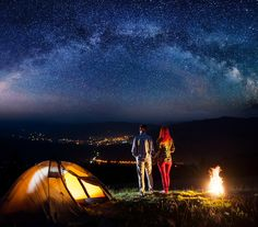 mountain camping to see whole city Camping Photo, Camping Accessories, Camping Equipment, Outdoor Gear, Tent, Mountain, Explore, City, Sports