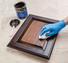 """LOVE! After a disaster with """"Polyshades"""" I found my new best friend- java gel stain."""