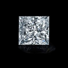 absolute white princess cut moissanite