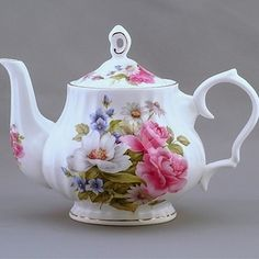 Pink Rose Bone China Teapot