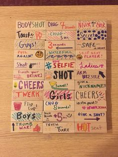 32 trendy Ideas for diy drinking games alcohol drunk jenga Adult Slumber Party, Adult Party Games, Adult Birthday Party, Sleepover Party, Adult Games, Slumber Parties, Pj Party, Party Drinks, Sleepover Games