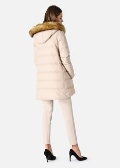 EMPORIO ARMANI DOWN JACKET WITH FAUX FUR INSERT Down Jacket D d