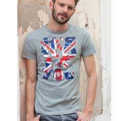 Ga voor dit T-shirt met ronde hals en opschrift !