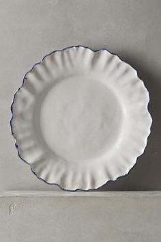 Anthropologie Ruffled Rim Side Plate