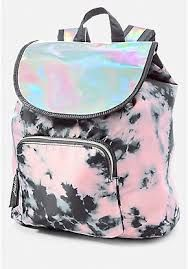 Justice Girls Pink Holo Dye Effect Rucksack Backpack Justice Backpacks, Justice Bags, Justice Stuff, Justice Accessories, Claire's Accessories, Cute Girl Backpacks, Kids Backpacks, Camo Backpack, Rucksack Backpack