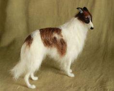 Needle felted dog custom portrait of your pet van Ainigmati op Etsy
