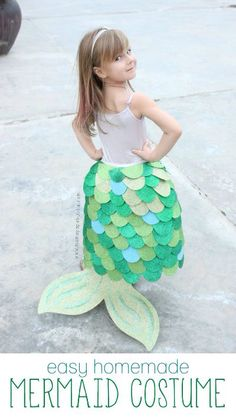 Imagem de http://www.diaryofaworkingmom.com/wp-content/uploads/2015/09/DIY-No-Sew-Easy-Homemade-Mermaid-Costume-Mama.Papa_.Bubba_..jpg.