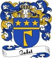 Cadet Coat of Arms  Cadet Family Crest   VIEW OUR FRENCH COAT OF ARMS / FRENCH FAMILY CREST PRODUCTS HERE
