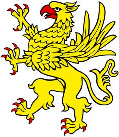 Heraldic Griffin  A creature segreant has both forelegs raised in the air, as a beast rampant, with wings elevated and addorsed. This term is reserved to winged quadrupeds (such as griffins and dragons).