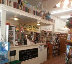 The front desk at The Book Nook in Brenham, TX