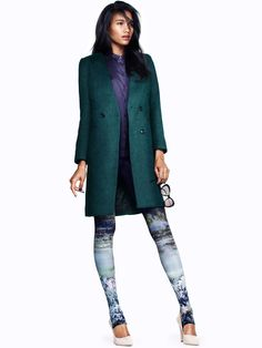 Arlenis Sosa Dons Fall Looks for H Latest Trend Update - Landscaped stirrup pants? I just can't decide if I'm okay with this or not...