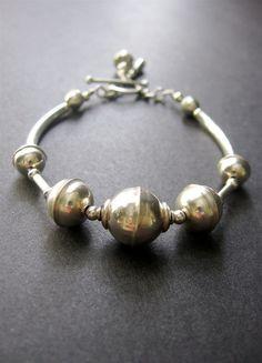 Sterling Silver Bracelet Beaded Sterling by SimpleElementsDesign