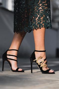 fa8b97b54e27ba Black High Heel Sandals. Add Hex to your occasion pieces for elegant  statement style.
