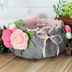 Floral Style Storage Basket [DIY Kit OR Finished Item]