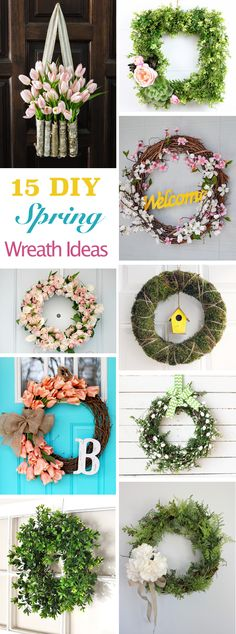 These 15 creative DIY spring wreath ideas are perfect for bringing the beauty of the season right to your home.